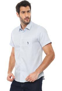 Camisa Aleatory Slim Quadriculada Branca/Azul