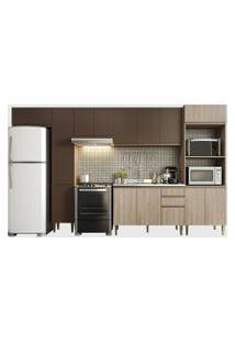 Cozinha 6 Peças Aveiro/Oxid Be Mobiliário Marrom/Bege