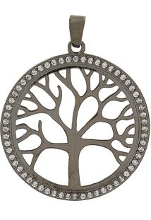 Pingente Narcizza Semijoias Árvore Da Vida Ródio Negro