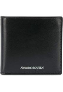 Alexander Mcqueen Carteira Com Logo Gravado - Preto
