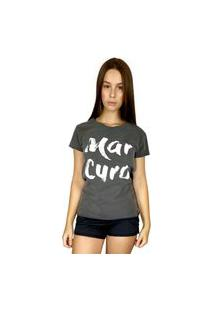 Camiseta Wss T-Shirt Feminina Mar Cura Chumbo