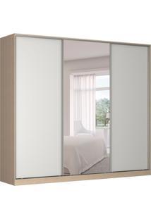 Guarda-Roupa Casal Com Espelho Tunas Ii 3 Pt 3 Gv Noce E Branco