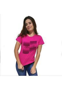 Camiseta Cellos Degradê Premium Feminina - Feminino-Rosa