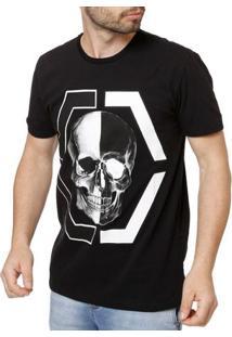 Camiseta Manga Curta Masculina Preto