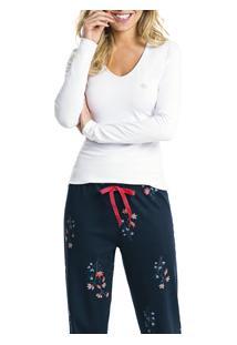 Pijama Longo Floral Malwee Liberta (1000052219)