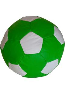 Puff Redondo Big Ball Futebol Cipaflex Verde/Branco - Stay Puff