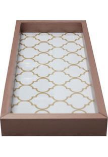 Bandeja Para Lavabo Geométrica- Bronze & Branca- 3X3Kapos