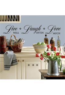 Adesivos De Parede Roommates Colorido Live Well-Love Often-Love Much Peel & Stick Single Sheet