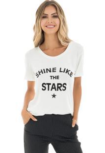 T-Shirt La Mandinne Shine Stars Off White
