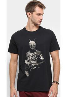 Camiseta Reserva Punk Rider Masculina - Masculino-Preto
