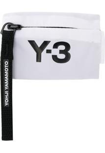 Y-3 Carteira Com Logo E Zíper - Branco
