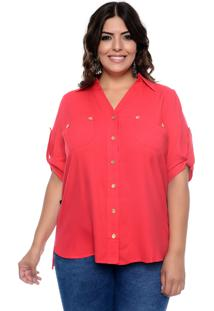 Camisa Forma Rara Plus Size Beautiful Red