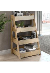 Estante Para Livros Escada 1001 Life Amadeirado - Bentec