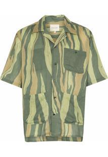 Nicholas Daley Camisa Aloha Com Listras E Mangas Curtas - Verde