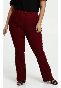 Calça Feminina Bengaline Flare Plus Size Gups