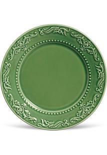 Conjunto 6Pçs Pratos Rasos Porto Brasil Acanthus Verde