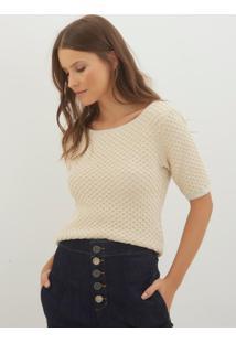 Blusa Bobô Maira Tricot Cobre Feminina (Bege, Gg)