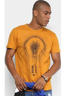 Camiseta Triton Estampada Masculina - Masculino-Amarelo