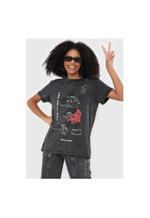 Camiseta Colcci Mickey Grafite