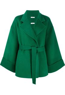 P.A.R.O.S.H. Belted Oversized Jacket - Verde