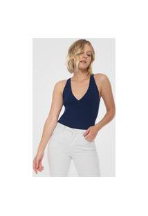 Blusa Finery London Heron Ribbed Knit Vest Azul