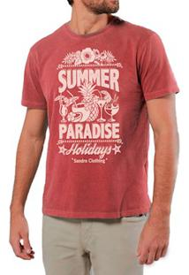 Camiseta Masculina Sandro Clothing Paridase Vermelha Estonada