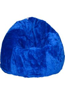 Puff Soft Pelúcia Azul
