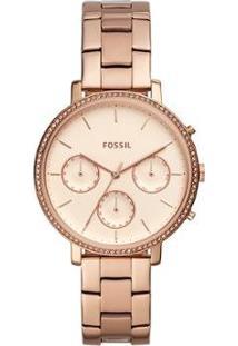Relógio Fossil Sylvia Feminino - Feminino-Bronze