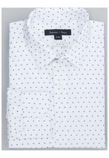 Camisa Manga Longa Social Estampada