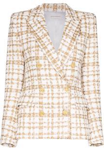 Faith Connexion Blazer De Tweed Com Abotoamento Duplo - Marrom