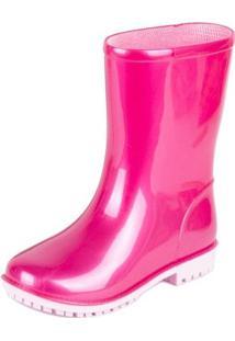 Bota World Colors Galocha Mia Perolado - Feminino-Pink