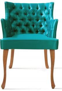 Poltrona Rocaille Capitone Verde Pes Tauari - 50180 - Sun House