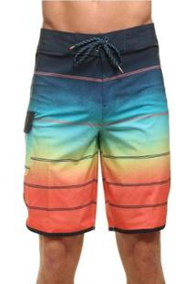 Bermuda Boardshort Billabong 73 X Stripe - Masculino-Laranja