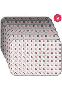 Jogo Americano Love Decor Wevans Quadrados Kit Com 6 Pçs