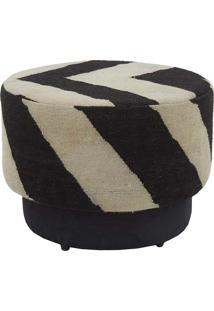 Puff Tamborim Petala Kilim Zebra Black 7 - 64X64X45