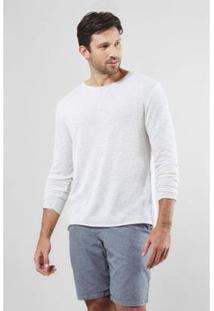 Camiseta Rustica A Fio Reserva Masculina - Masculino-Off White