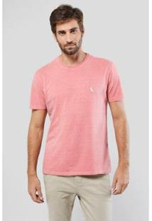 Camiseta Suspiro Pica-Pau Bordado Reserva Masculina - Masculino-Vermelho Claro