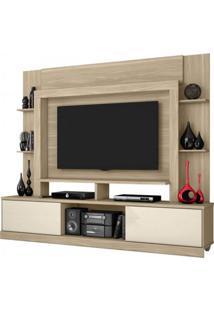 Estante Para Tv E Home Theater 2 Portas Miami Belaflex Macchiato/Off White