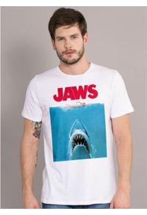 Camiseta Bandup! Jaws Movie - Masculino-Branco