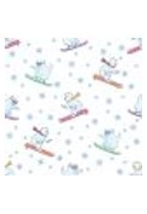 Papel De Parede Adesivo - Ursos Esquiando - 024Ppi