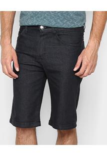 Bermuda Jeans Zamany Básica Black Masculina - Masculino