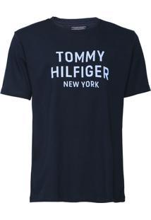Camiseta Tommy Hilfiger Dashing Graphic Azul Marinho