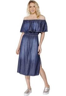 ccf55e383 ... Vestido Midi Jeans Colcci - Feminino-Azul
