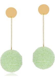 Brinco Le Diamond Bubble Verde - Kanui