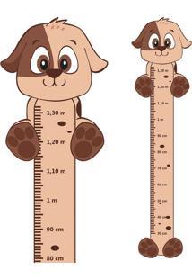 Adesivo Régua De Crescimento Cachorrinho Com Patas