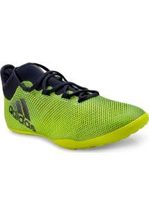 Tenis Masc Adidas Cg3717 X Tango 17.3 Limao/Marinho