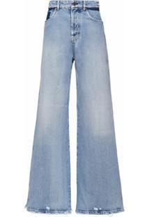 Miu Miu Calça Jeans Flare Cintura Alta - Azul