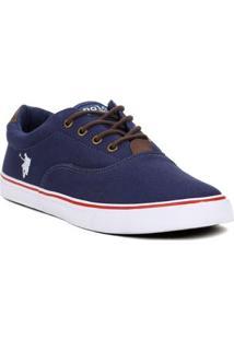 Tênis Casual Masculino Polo Shoes Vintage Azul