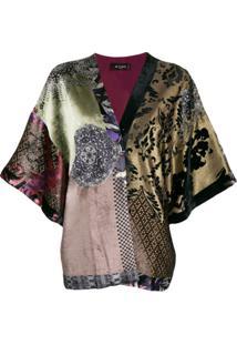 Etro Kimono Com Patchwork - Roxo