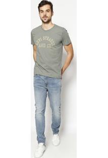 "Camiseta ""Levi Strauss And Co""- Verde Militar & Amarelalevis"